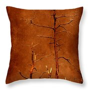 Left Bare And Broken Throw Pillow