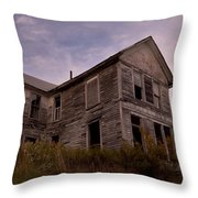 Left Empty To Fall Throw Pillow