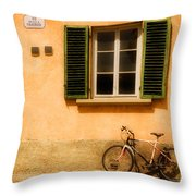 Left Flat In Lucca Throw Pillow