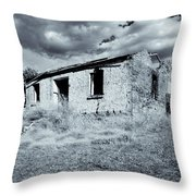 Left In Ruin Throw Pillow by Mike  Dawson