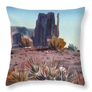 Left Mitten And Yucca Throw Pillow