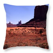 Left Mitten Monument Valley Navajo Tribal Park Throw Pillow