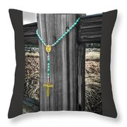 Left On The Fence Post Throw Pillow