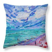 Left Panel Of Triptych Busy Relaxing Throw Pillow