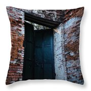 Left The Building Throw Pillow