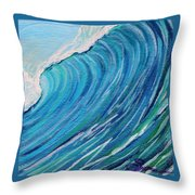 Lefthand Wall Of Water Throw Pillow
