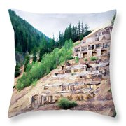 Leftovers From Sunnyside Mill Throw Pillow