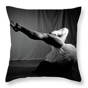 Leg Stretch Throw Pillow
