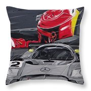 Legend Michael Schumacher Throw Pillow