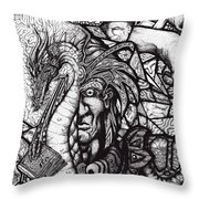 Legend Throw Pillow by Tobey Anderson