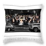 Legends Of Hollywood Poster Throw Pillow