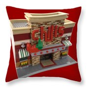 Lego Chili's Restaurant Throw Pillow