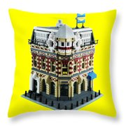 Lego Corner Shop And Apartments Throw Pillow