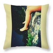 Legs Over Water Throw Pillow