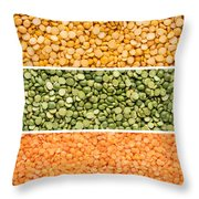 Legumes Triptych Throw Pillow