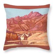 Leh, Ladakh Throw Pillow