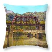 Lehigh River - Easton Pa Throw Pillow
