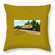 Lehigh Valley/ Lackawanna Engines Throw Pillow