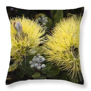 Lehua Mamo Blossom Throw Pillow
