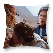 Leia Kisses Luke Throw Pillow