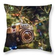 Leica Christmas Throw Pillow
