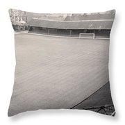 Leicester City - Filbert Street - Filbert Street End 1 - Bw - 1960s Throw Pillow