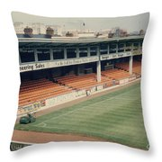 Leicester City - Filbert Street - Filbert Street End 2 - 1970s Throw Pillow