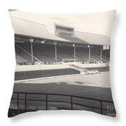 Leicester City - Filbert Street - Main Stand 1 - Bw - 1960s Throw Pillow