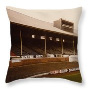 Leicester City - Filbert Street - Main Stand 2 - 1970s Throw Pillow