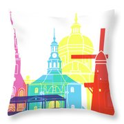 Leiden Skyline Pop Throw Pillow