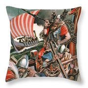 Leif Ericsson, The Viking Who Found America Throw Pillow