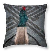 Leifur Eriksson Statue Throw Pillow