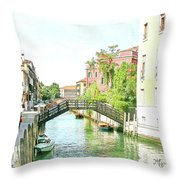 Leisurely Afternoon Stroll  Throw Pillow