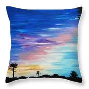 Lejeune Sunset Throw Pillow