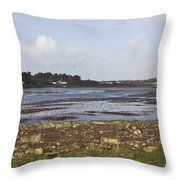 Lelant Water Hayle Estuary Throw Pillow