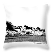 Lely Horses Throw Pillow