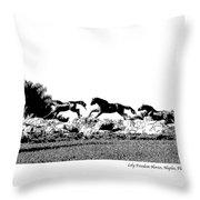Lely Horses Throw Pillow