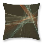Lemans Computer Graphic Line Pattern Throw Pillow