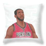 Lemarcus Aldridge Throw Pillow by Toni Jaso