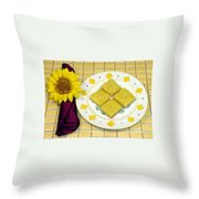 Lemon Candy Bars Throw Pillow