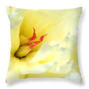 Lemon Chiffon I Throw Pillow