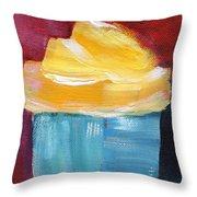 Lemon Cupcake- Art By Linda Woods Throw Pillow