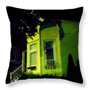 Lemon-drop House Throw Pillow by Guy Ricketts