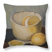 Lemon In A Bowl Throw Pillow