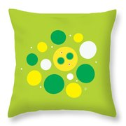 Lemon Lime Fizz Throw Pillow