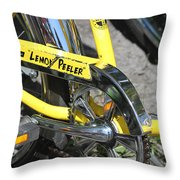 Lemon Peeler Throw Pillow by Lauri Novak