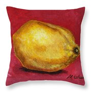 Lemon Pink Throw Pillow
