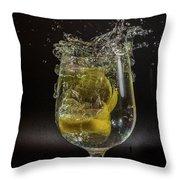 Lemon Spash Throw Pillow