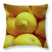 Lemon Squeeze Throw Pillow