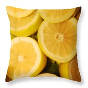 Lemon Still Life Throw Pillow